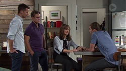 Mark Brennan, Aaron Brennan, Fay Brennan, Tyler Brennan in Neighbours Episode 7655