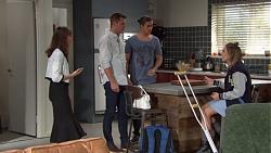 Fay Brennan, Mark Brennan, Tyler Brennan, Piper Willis in Neighbours Episode 7656