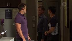 Aaron Brennan, Paul Robinson, David Tanaka in Neighbours Episode 7656