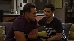 Aaron Brennan, David Tanaka in Neighbours Episode 7656