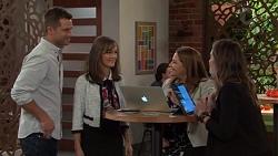 Mark Brennan, Fay Brennan, Terese Willis, Paige Novak in Neighbours Episode 7656
