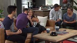 David Tanaka, Aaron Brennan, Fay Brennan, Mark Brennan, Tyler Brennan in Neighbours Episode 7656