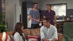 Tyler Brennan, Aaron Brennan, Fay Brennan, Mark Brennan in Neighbours Episode 7656