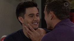 David Tanaka, Aaron Brennan in Neighbours Episode 7656
