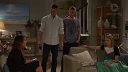 Paige Novak, Mark Brennan, Tyler Brennan, Piper Willis in Neighbours Episode 7656