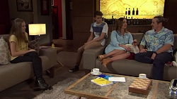 Willow Bliss, Jimmy Williams, Amy Williams, Toadie Rebecchi in Neighbours Episode 7658