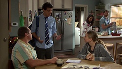 Toadie Rebecchi, Ben Kirk, Willow Bliss, Dipi Rebecchi, Shane Rebecchi in Neighbours Episode 7658