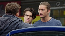 Evan Lewis, Ben Kirk, Tyler Brennan in Neighbours Episode 7658