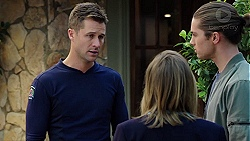 Mark Brennan, Piper Willis, Tyler Brennan in Neighbours Episode 7658