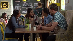 Mishti Sharma, Dipi Rebecchi, Yashvi Rebecchi, Shane Rebecchi in Neighbours Episode 7658