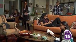 Dipi Rebecchi, Mishti Sharma, Shane Rebecchi, Yashvi Rebecchi, Kirsha Rebecchi in Neighbours Episode 7661