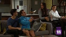 David Tanaka, Aaron Brennan, Mishti Sharma, Leo Tanaka in Neighbours Episode 7661