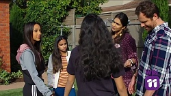 Mishti Sharma, Kirsha Rebecchi, Yashvi Rebecchi, Dipi Rebecchi, Shane Rebecchi in Neighbours Episode 7661