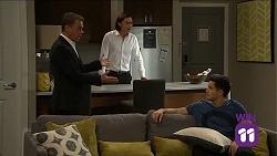 Paul Robinson, Leo Tanaka, David Tanaka in Neighbours Episode 7661