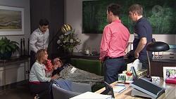 David Tanaka, Piper Willis, Terese Willis, Nick Petrides, Gary Canning in Neighbours Episode 7662