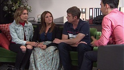 Piper Willis, Terese Willis, Gary Canning, Nick Petrides in Neighbours Episode 7662