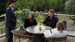 David Tanaka, Terese Willis, Gary Canning, Piper Willis in Neighbours Episode 7662