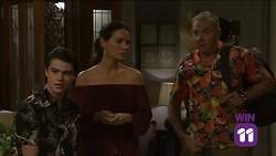 Ben Kirk, Elly Conway, Karl Kennedy in Neighbours Episode 7663