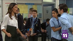 Elly Conway, Jimmy Williams, Yashvi Rebecchi, Ben Kirk in Neighbours Episode 7663