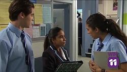 Ben Kirk, Kirsha Rebecchi, Yashvi Rebecchi in Neighbours Episode 7663