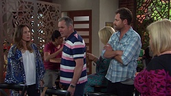 Sonya Mitchell, Karl Kennedy, Shane Rebecchi, Sheila Canning in Neighbours Episode 7665
