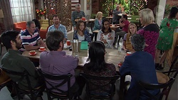 Karl Kennedy, Shane Rebecchi, Sonya Mitchell, Dipi Rebecchi, Xanthe Canning, Sheila Canning in Neighbours Episode 7665