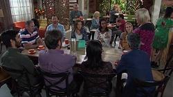 Karl Kennedy, Shane Rebecchi, Sonya Rebecchi, Dipi Rebecchi, Xanthe Canning, Sheila Canning in Neighbours Episode 7665