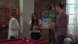 Amy Williams, Mishti Sharma, Tyler Brennan in Neighbours Episode 7666