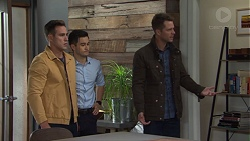 Aaron Brennan, David Tanaka, Mark Brennan in Neighbours Episode 7668