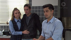 Piper Willis, Tyler Brennan, David Tanaka in Neighbours Episode 7668