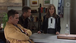 Aaron Brennan, Mark Brennan, Fay Brennan in Neighbours Episode 7668