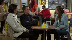 Leo Tanaka, Paul Robinson, Mishti Sharma, Amy Williams in Neighbours Episode 7668