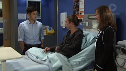 David Tanaka, Tyler Brennan, Fay Brennan in Neighbours Episode 7668