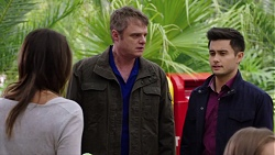 Paige Novak, Gary Canning, David Tanaka in Neighbours Episode 7670