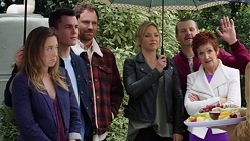 Sonya Mitchell, Jack Callaghan, Shane Rebecchi, Steph Scully, Toadie Rebecchi, Susan Kennedy in Neighbours Episode 7670