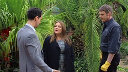 Nick Petrides, Terese Willis, Gary Canning in Neighbours Episode 7672