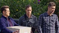 Aaron Brennan, Tyler Brennan, Mark Brennan in Neighbours Episode 7673