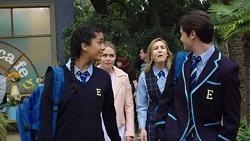 Yashvi Rebecchi, Xanthe Canning, Piper Willis, Ben Kirk in Neighbours Episode 7673