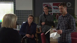 Sheila Canning, Aaron Brennan, Tyler Brennan, Mark Brennan in Neighbours Episode 7673