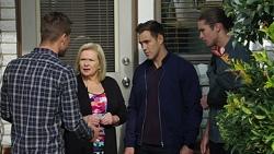 Mark Brennan, Sheila Canning, Aaron Brennan, Tyler Brennan in Neighbours Episode 7673