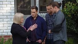 Sheila Canning, Aaron Brennan, Mark Brennan, Tyler Brennan in Neighbours Episode 7673