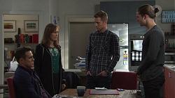 Aaron Brennan, Fay Brennan, Mark Brennan, Tyler Brennan in Neighbours Episode 7674