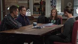 Mark Brennan, Aaron Brennan, Fay Brennan, Tyler Brennan in Neighbours Episode 7674