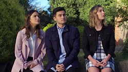 Elly Conway, David Tanaka, Piper Willis in Neighbours Episode 7674