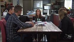 Aaron Brennan, Mark Brennan, Fay Brennan, Tyler Brennan, Piper Willis in Neighbours Episode 7674