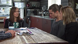 Fay Brennan, Tyler Brennan, Piper Willis in Neighbours Episode 7674