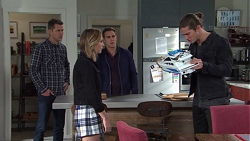 Mark Brennan, Piper Willis, Aaron Brennan, Tyler Brennan in Neighbours Episode 7674