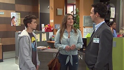 Jimmy Williams, Amy Williams, Nick Petrides in Neighbours Episode 7675