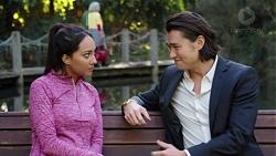 Mishti Sharma, Leo Tanaka in Neighbours Episode 7675