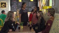 Yashvi Rebecchi, Kirsha Rebecchi, Freya Stone in Neighbours Episode 7677